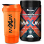 Mobile Preview: Bundle Maxum eSports & Gaming Booster ohne Koffein Ice Tea Peach mit Maxum Shaker